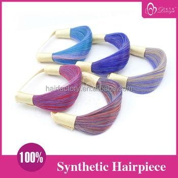 Deniya Colorful Fake Hair Elastic Band - Buy Elastic With Fake Hair ... 6757ab9558b