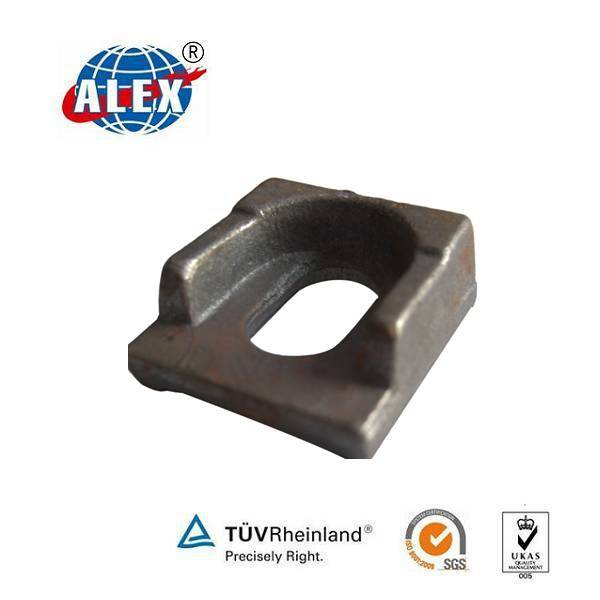 Railroad clamp used with SS8 screw spike