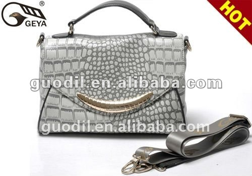 Newest Crocodile embossed with flap bag Fashion ladies handbag