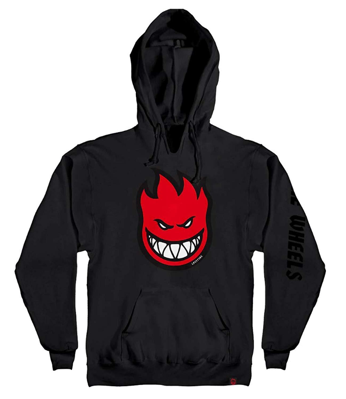 spitfire wheels Bighead Fill Sleeve Logo Pullover Skateboard Hoodie - Black/Red - XL