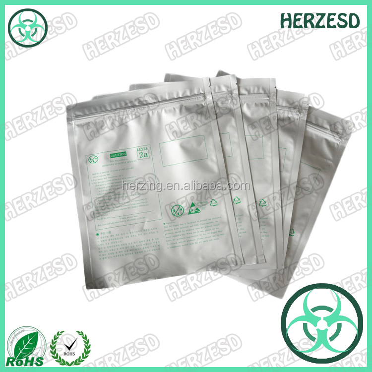 Large Reusable Antistatic Aluminum Foil Bag WIth Printed