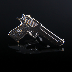 Wholesale latest design custom Cheep 3D antique Gun Shape Tie Clip