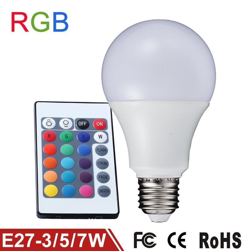 Lampadina lampada faretto led rgb con telecomando luce for Lampada a lampadina