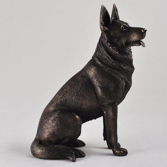 Bronze Art German Shepherd Dog Statue