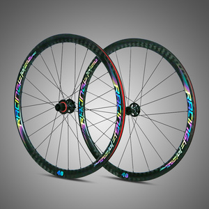 Thru-axle F12*100-R12*142mm carbon wheelset 700C road disc wheels