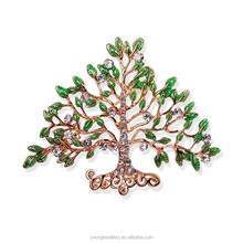 B85040 fashion Costume jewelry green enamel Christmas tree brooch for women dress decoration
