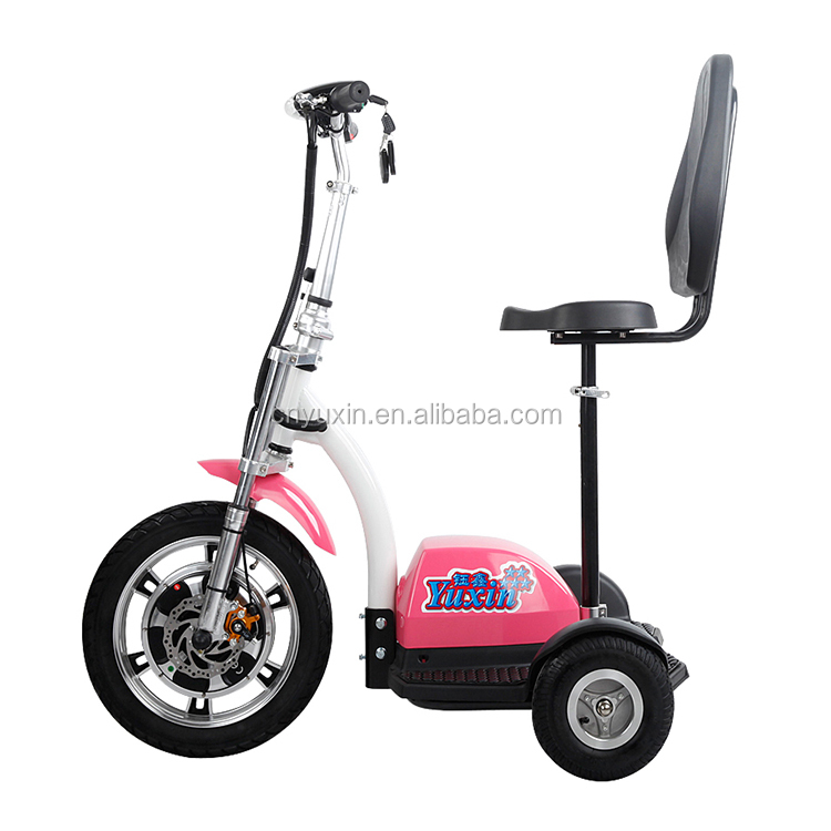 OEM Electric Zappy Three Wheel Handicapped Scooter with CE for Adult YXEB-712