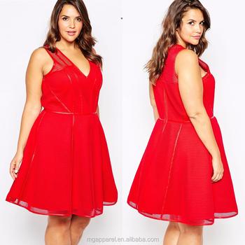 Fashion Dress Designs Fat Ladies Plus Size Summer Dress For Fat