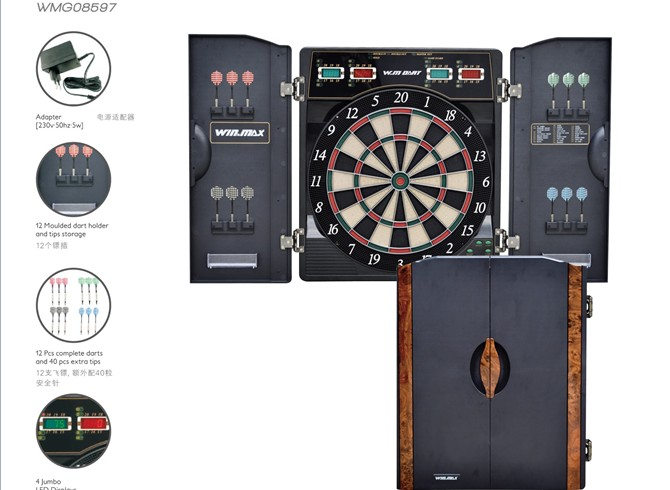 Electronic Blade Wire Bristle Dartboard Cabinet Set Led Displays For  Scoring   Buy Electronic Dartboard Cabinet,Electronic Dartboard,Dartboard  Cabinet ...