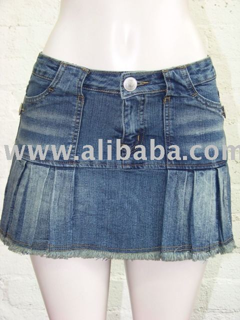 denim stretch skort