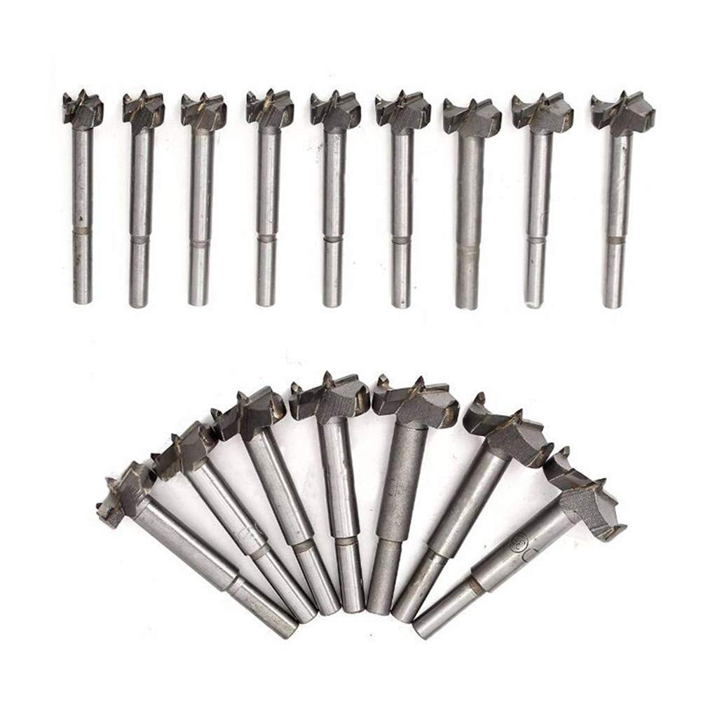 """Ovovo 16pc Forstner Drill Bit Set Forstner Drill Bits For Wood Hole Saw Wood Cutter Woodworking Tool 15mm(19/32"""")~35mm(1-3/8"""")"""