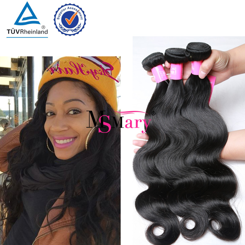 Wholesale Mixed Length Malaysian Hair 3Pcs Unprocessed Virgin Body Wave Human Hair Natural Color