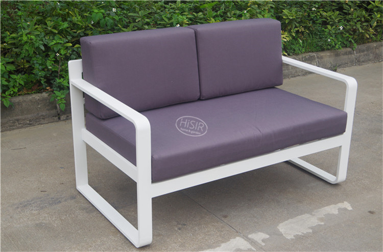 Aluminium sofa set with cushion outdoor furniture made in china