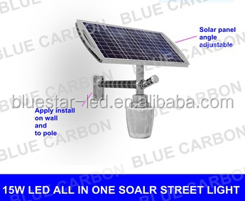 high efficiency solar street lights with two installation parts factory direct