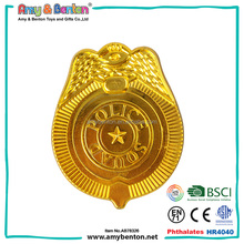 Promotional gift children plastic police badge toy for sale