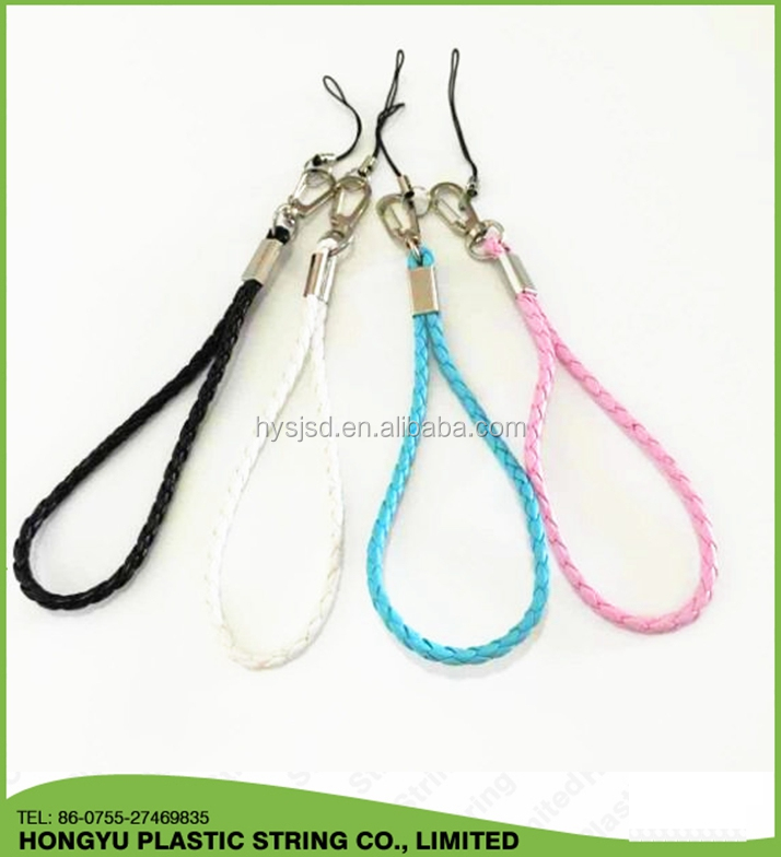 PU Leather Hand Wrist Strap Lanyard For key Mobile Phone USB