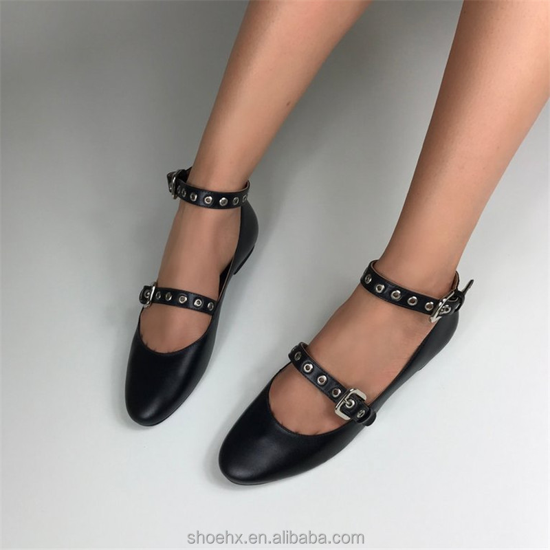 shoes newest flat shoes ladies leather genuine with fashion women A4wqBTxwt