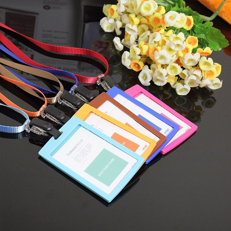 Factory direct sale fasion custom colorful hard plastic id card holder