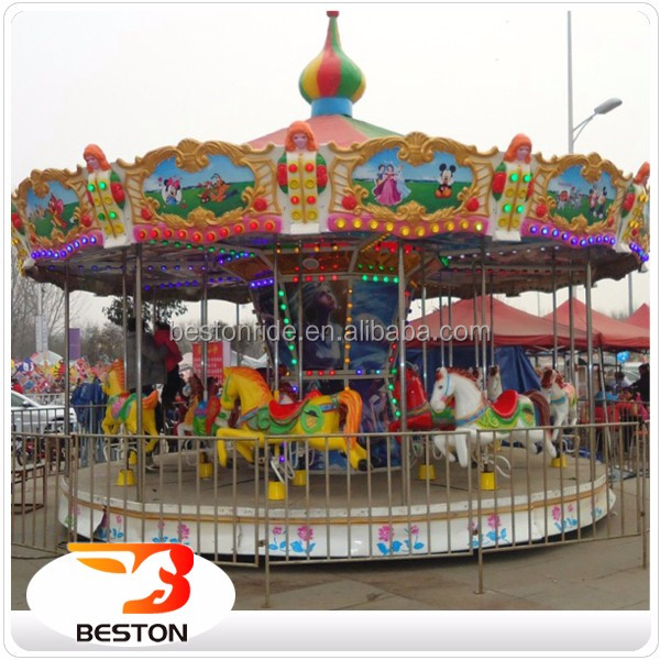 Beston merry go round kids carousel/electrical amusement park toys