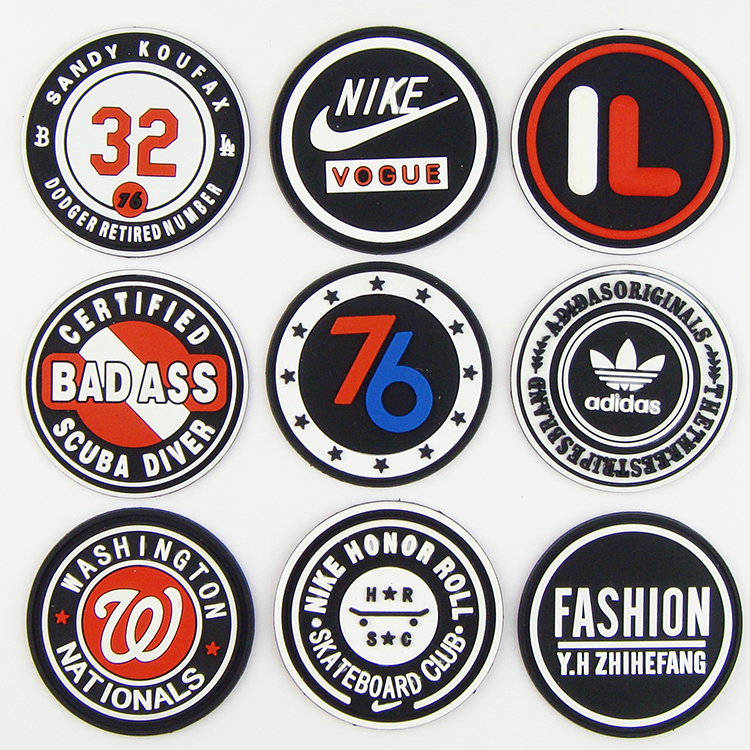 Custom quality wear-resisting 3d pvc rubber patch logo for clothing, Custom color
