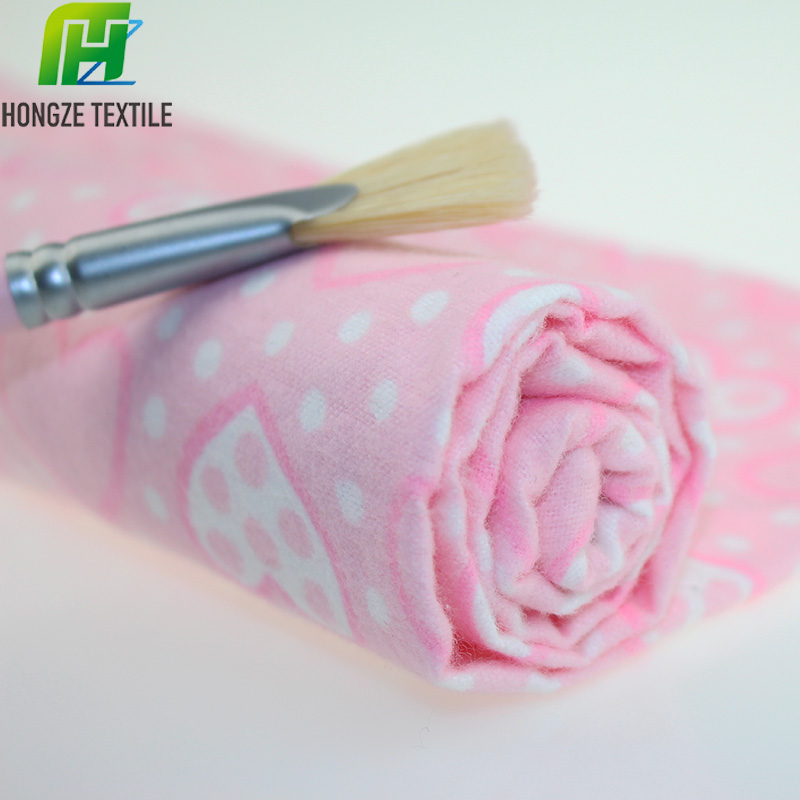 high quality flannel export cotton flannel 20 * 10 40 * 42 blanket fabric