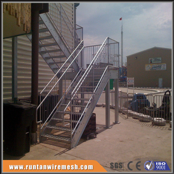 Galvanized Metal Fire Escape Exterior Steel Stairs Treads Designs