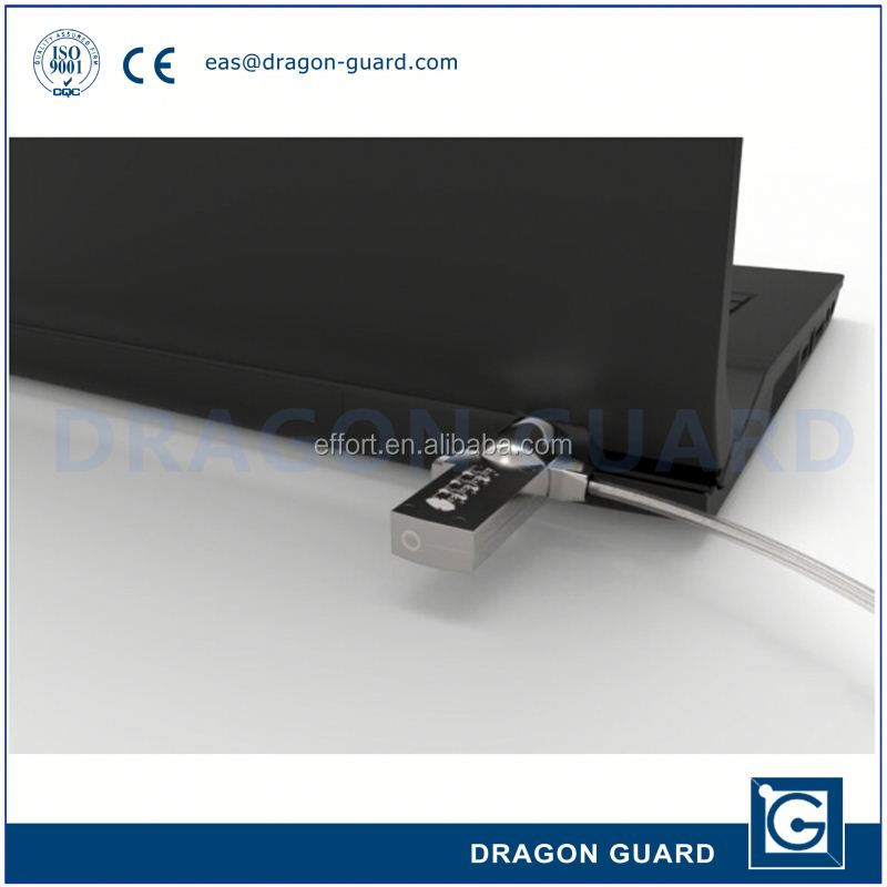 laptop security lock with cable connection & laptop lock with master key & alloy notebook lock