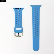 Ремешок URVOI для apple watch 5 4 3 2 1 ремешок для iwatch NIKE силиконовый спортивный ремешок 40 мм 44 мм аксессуары для часов 40 мм мягкий дышащий(Китай)