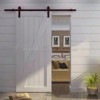 Wholesale Soundproof Interior Wooden Retractable Interior Sliding Barn Doors