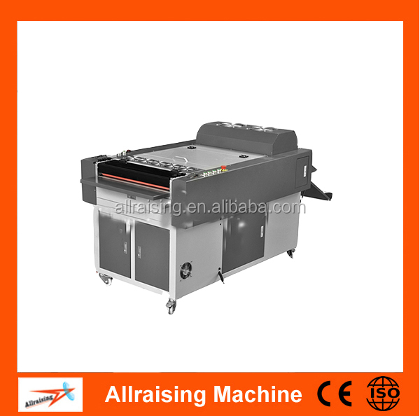 Single-roller hot melt leather embossing machine