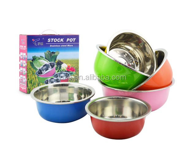40cm Chaozhou colorful kitchen utensil stainless steel promotion gift