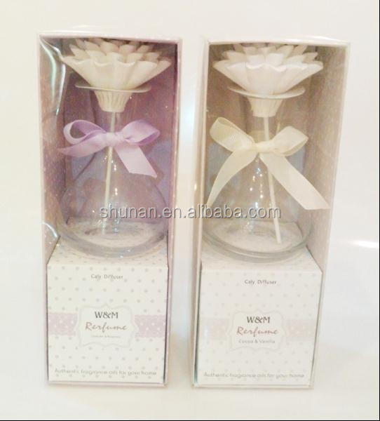 Clay flower diffuser/ 100ml make-up fluid, clay flower, fiber stick