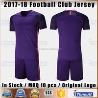 Grade ori soccer jersey thai quality football shirts in stock customized blank football uniform team set 2017