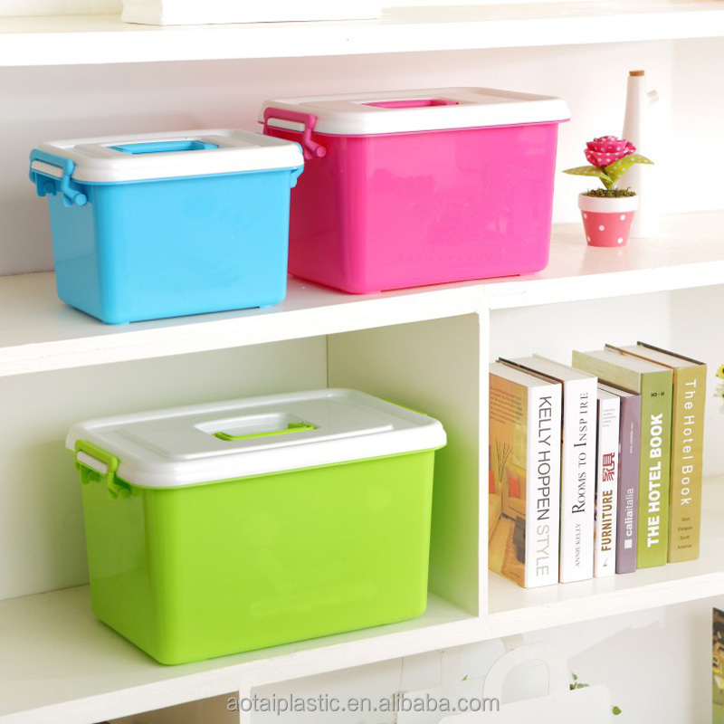 Multifunctional Storage Box Portable Plastic Storage Container With