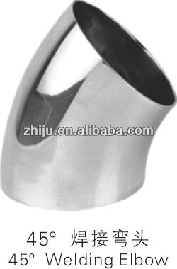 stainless steel pipe ftting welding 45 degree bend/ elbow