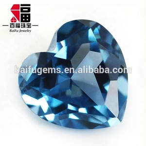 Fancy Shaped Heart Shape 120# Zircon Blue Synthetic Spinel London Blue Topaz spinel rough