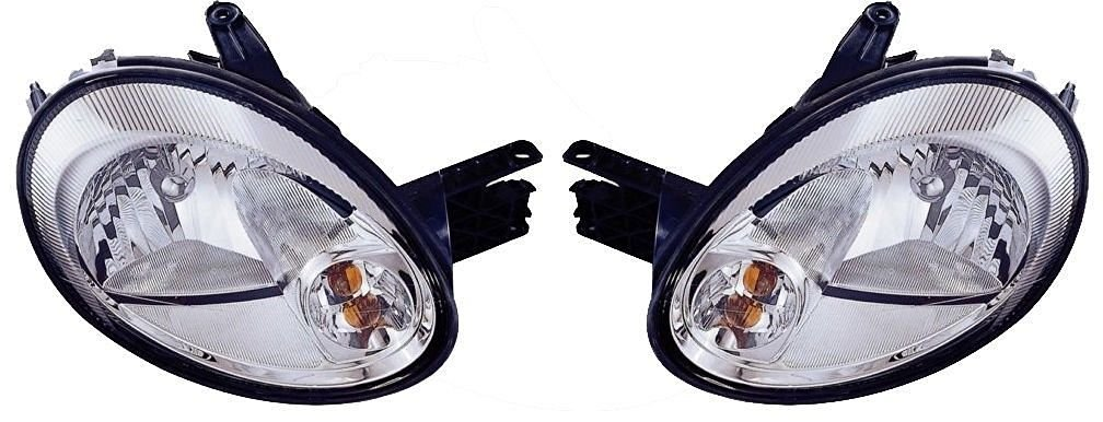 #CH2502151 #CH2503151 Headlights Headlamps w/ Chrome Bezel Left & Right Pair Set for 03-05 Dodge Neon