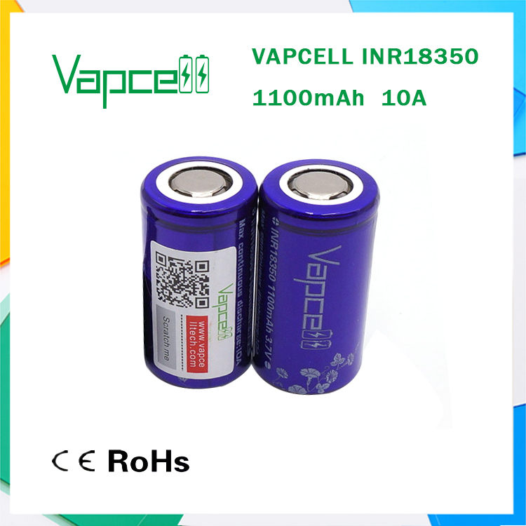 Hot sell 18350 battery li-ion battery manufacturer with RoHs & CE certificates