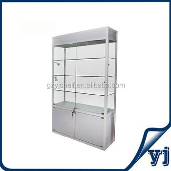Lockable Glass Key Cabinet With Sliding Doorglass Window Display