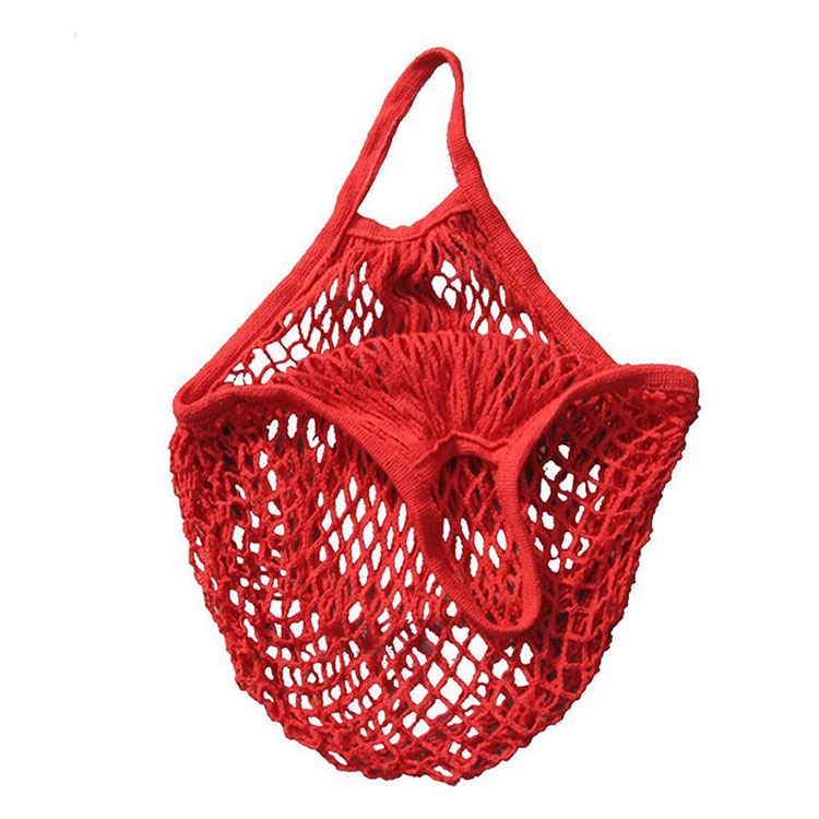 2019 New Portable Reusable Eco Friendly Fruit Storage  Shopping Organic Cotton Produce Mesh Net Grocery Bag
