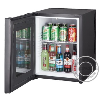 Desktop Mini Fridge Glass Door Absorption Hotel Mini Bar Fridge
