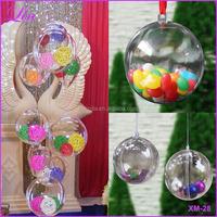 Free Shipping by DHL/FEDEX/SF Christmas Tree Decor Ornament Ball Type Box Transparent Plastic Craft Christmas plastic ball