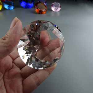 Business gift or souvenir large small decorative transparent K9 crystal glass diamond 110mm