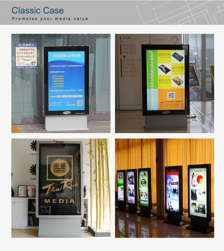 2018 New Design Indoor LED Light Box with Base Billboard