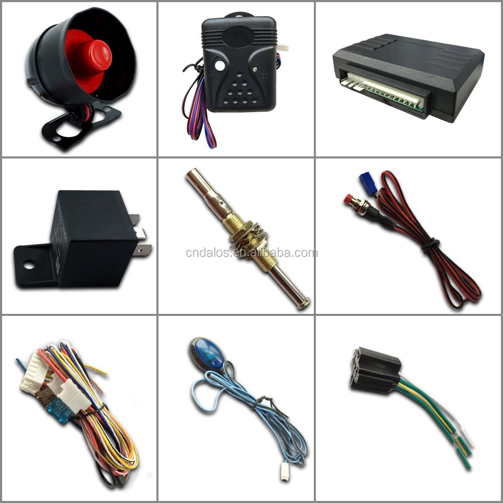 Auto guard manual car alarm system inwells car alarm with anti hijacking functions