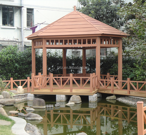 3x3m Waterproof outdoor plastic composite WPC pavilion
