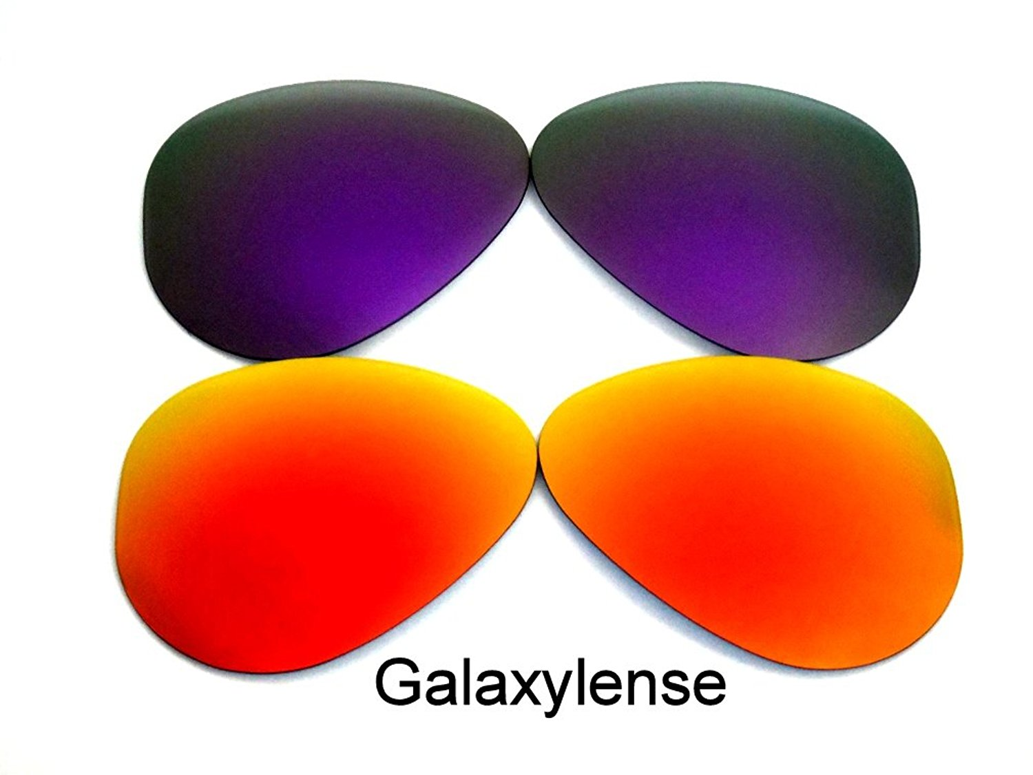 e2d31dc3ee Get Quotations · Replacement Lenses For Ray-Ban RB3025 Red Purple 62 mm  Polarized 2Pairs