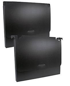 Flip File Hanging File Folder Pockets - Set of 12 (Black, Half Inch Thick)