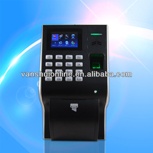 fingerprint &RFID time recording terminal Built-in thermal printer with battery