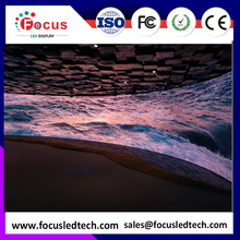 LED curved display screen PH6/LED video wall/stage rental backdrop/outdoor full color rental LED screen